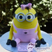 3D Minion Girl Cake - Amarantos Birthday Cake Melbourne