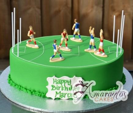 Footy Field AFL Cake - Amarantos Designer Cakes Melbourne