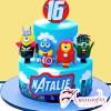Two Tier Minion Avengers Cake - Amarantos Designer Cakes Melbourne
