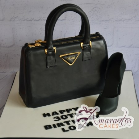 Prada Handbag and Shoe Cake - Amarantos Designer Cakes Melbourne