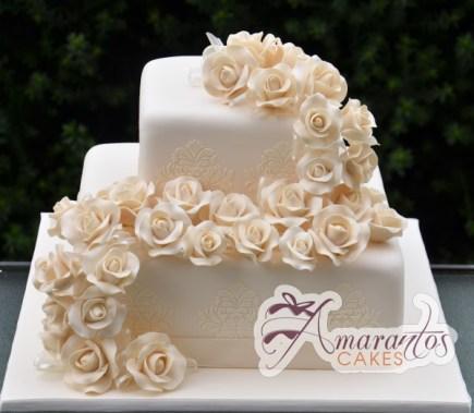 Two tier Cake – WC09 – Amarantos Wedding Cakes Melbourne