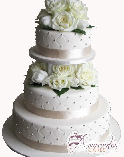 Three Tier Cake – WC103 – Amarantos Wedding Cakes Melbourne