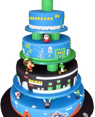 Four tier Super Mario Wedding Cake- WC183
