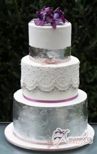 Six Tier Cake - WC20 - Amarantos Wedding Cakes Melbourne
