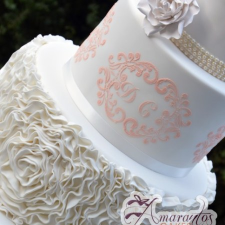 Five tier floral wedding cake - Amarantos Designer Cakes Melbourne