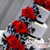 Four Tier with Roses Cake - Amarantos Designer Cakes Melbourne