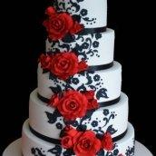 Five Tier with Roses Cake - Amarantos Designer Cakes Melbourne
