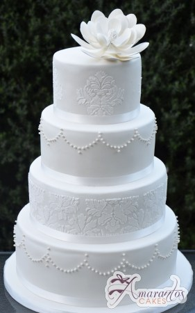 Four Tier Round Cake - WC231 - Amarantos Wedding Cakes Melbourne