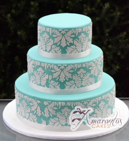 Three Tier Cake – WC27 – Amarantos Wedding Cakes Melbourne