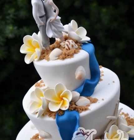Three Tier Beach themed cake- WC87