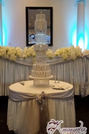 Six Tier Sex in the City Wedding Cake - Amarantos Designer Cakes Melbourne