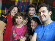 Matete, Victoria Galindo, Gloria, Hugo, Ana G. y Manuel