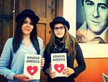 Blanca Pérez de Tudela y Laura Salmerón, de la revista literaria El Bombín