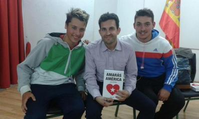 Con Diego y Álvaro (IES Aljada Puente Tocinos)