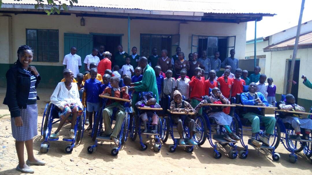 In 2017 the children were gifted 6 customized wheel chairs for cerebral Palsy children, 2 wheelchairs for physically challenged, crutches, walkers