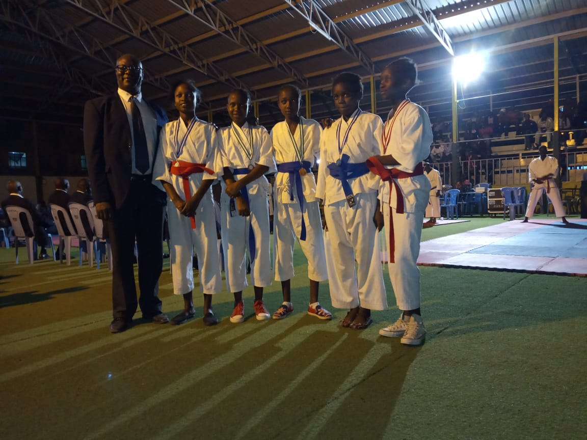 Participants of the Kenya Open Karate competition.