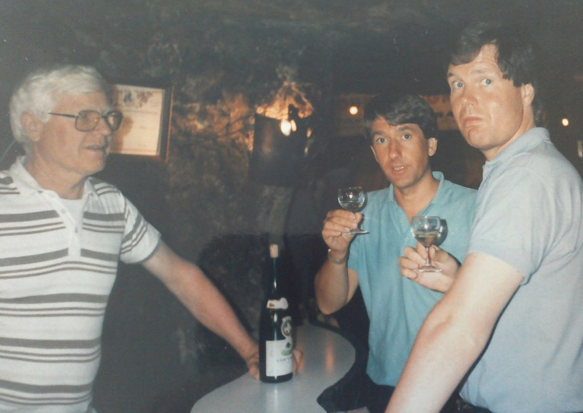 My first wine fair, around 1985, in Vouvray's Cave De La Bonne Dame