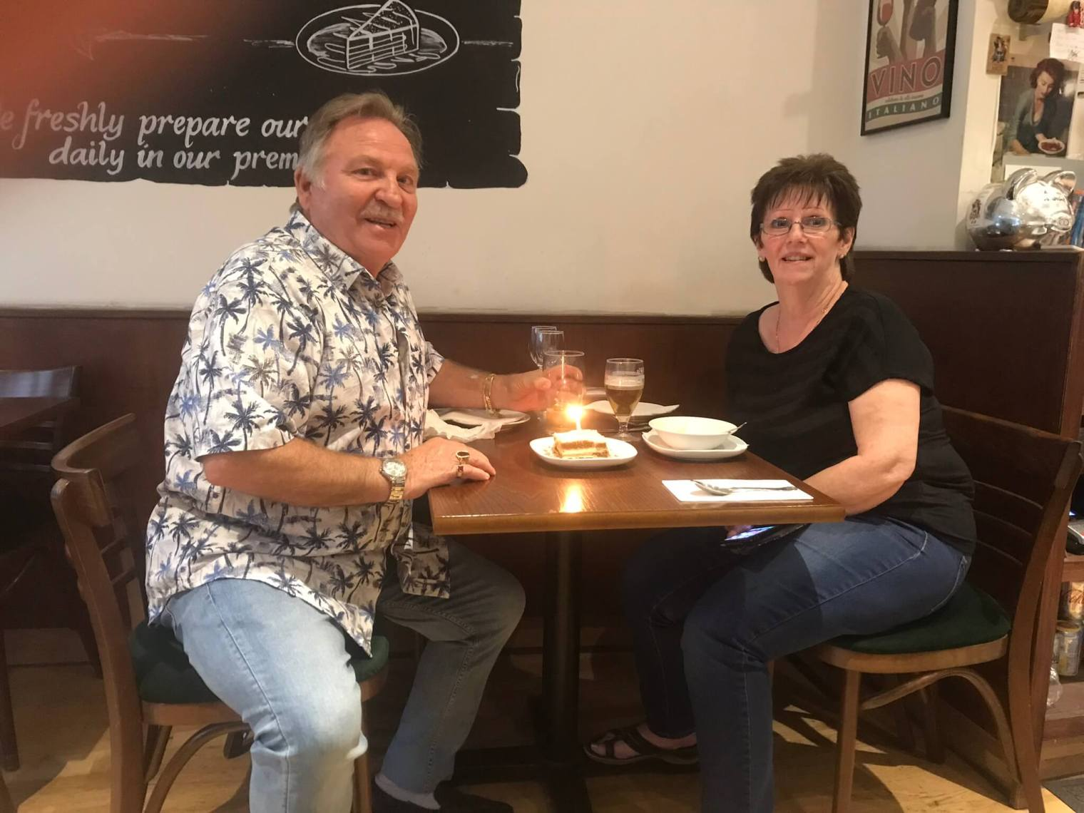 Amarcord-Museum-Italian-Restaurant-near-british-museum-in-holborn-Tony & his lovely wife