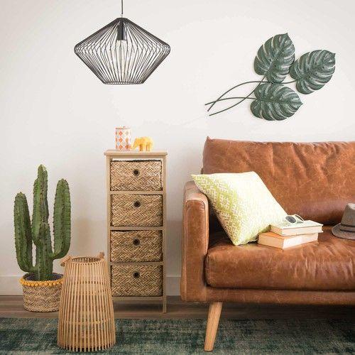 elementos naturales en decoración como las fibras naturales