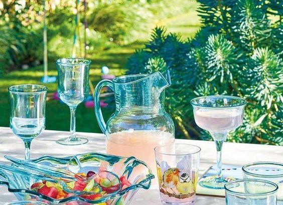 decoración de mesas de verano refrescantes