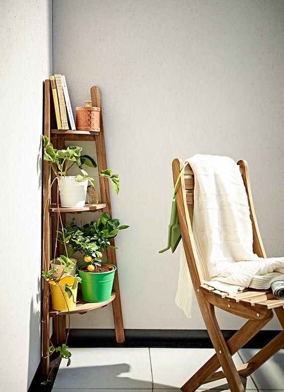 ideas para decorar balcones pequeños con esquineras