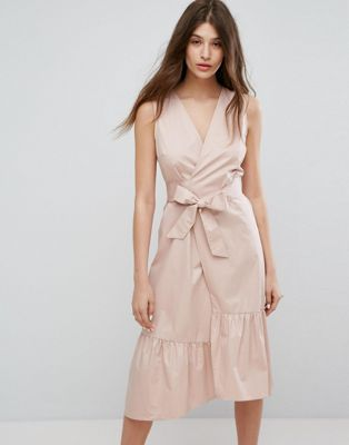 wrap dress para ir a la oficina