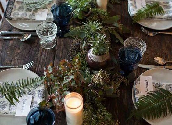 mesa de navidad natural