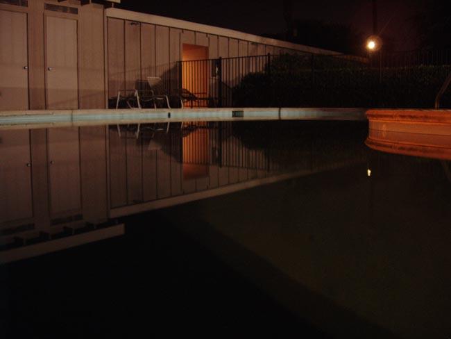 California Pool at Night