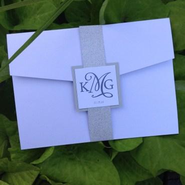 Landscape pocket wedding invitations
