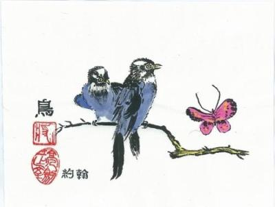 John Eder-two-blue-birds-2