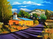 """Truchas Sunset"" Oil 30"" x 40"""