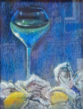 "Bill Philpott - Original pastel ""Blue Evening"""