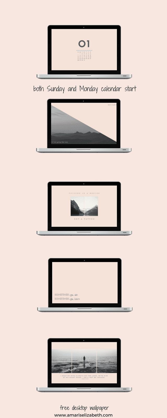 Freebie: January Desktop + Mobile Wallpaper 4