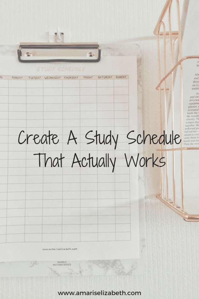 Create a Study Schedule That Actually Works 1