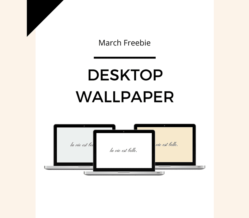 Freebie: March Desktop Wallpaper