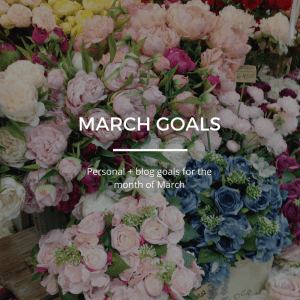 March Goals 13