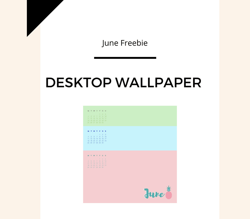 Freebie: June Desktop Wallpaper