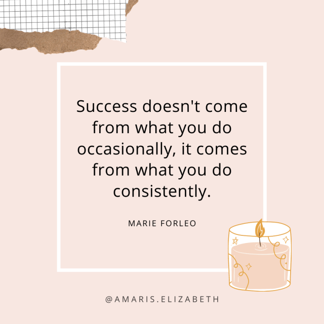 goals need consistency