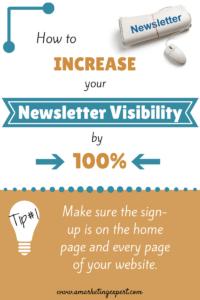 Newsletter visibility tip #1