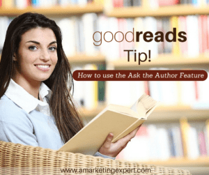 goodreads ask author youtube author marketing experts video tip