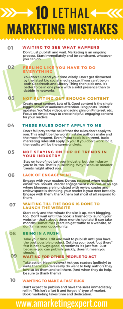 10 Lethal Marketing Mistakes AME Infographic