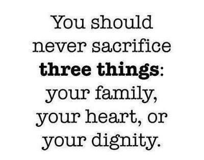What are you sacrificing right now?
