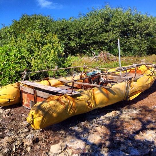 abandoned Cuban Raft found in Florida Keys