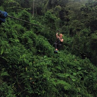 ziplining in the Costa Rican rainforest