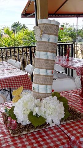 Pisa Diaper Cake
