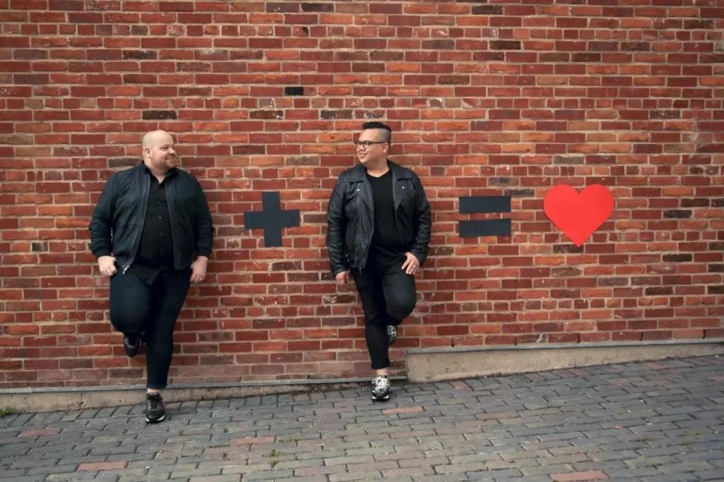 Mark plus Pedro equals love