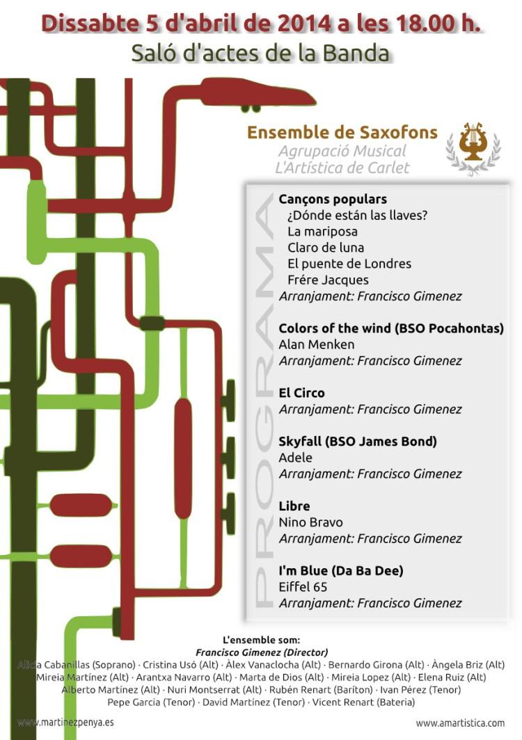 Audició Saxofons 5 d'abril