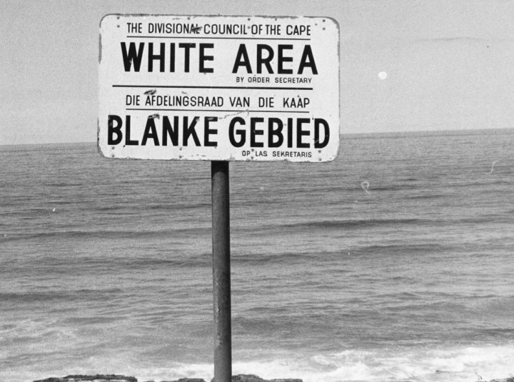 Apartheid was the reason for the whole South African disaster. No doubt: the apartheid policy is responsible for the racial tensions. The black race is excluded from a lot of places, e.g. at the bayside like indicated on this sign-post. (06/23/76)(AP PHOTO)