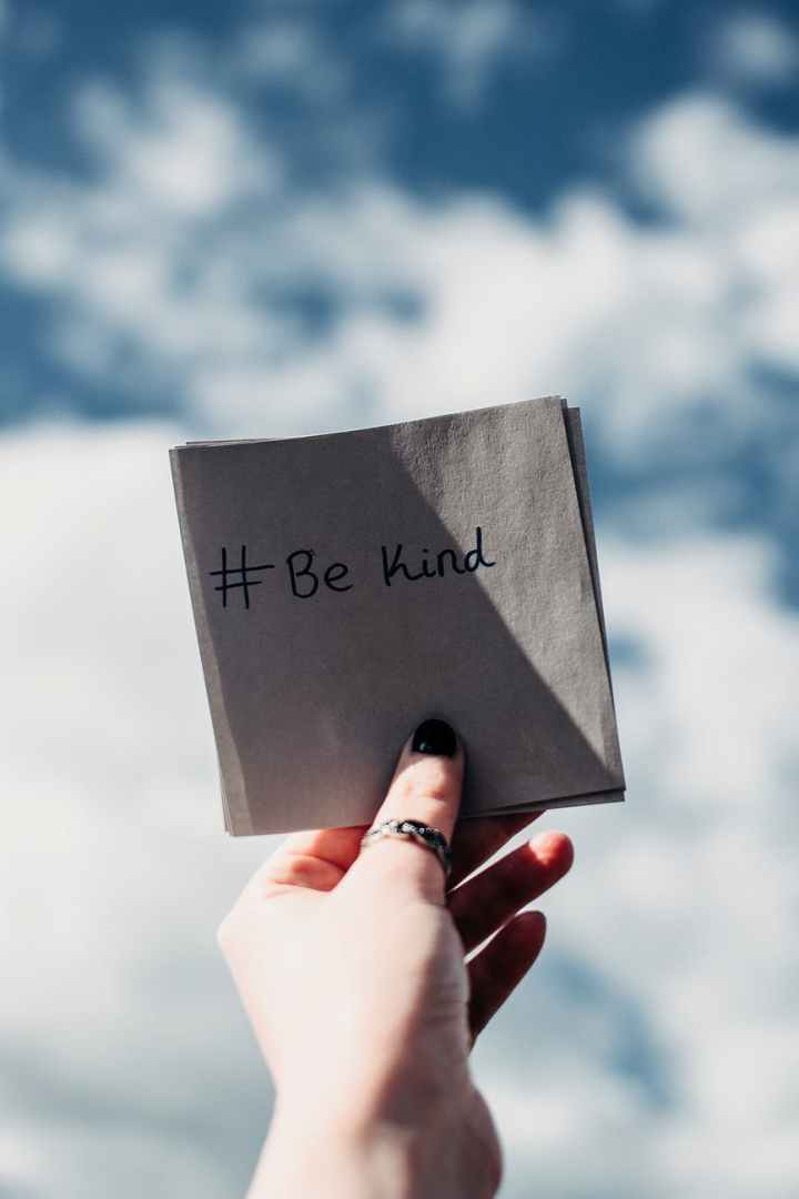 Be kind to be happy every day.