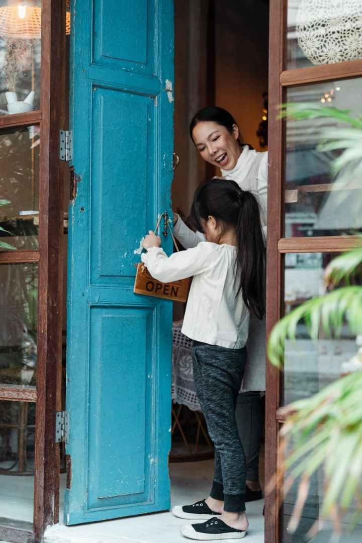 Hold the door open to make people happy